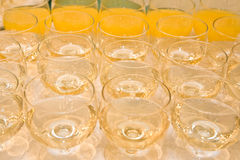 Glasses of wine and juice Royalty Free Stock Image