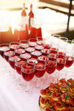 Glasses of wine. Royalty Free Stock Photos