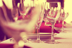 Glasses of wine before the party. Stock Image