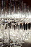 Glasses 2. Wine glasses prepared for an aperitif royalty free stock images