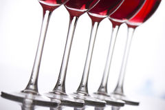 Glasses of wine Stock Image