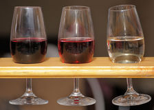 Glasses of wine. Are in a stand Royalty Free Stock Photography