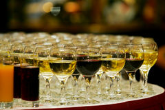 Glasses of wine Stock Image