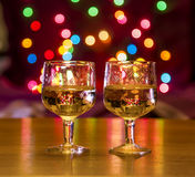Glasses of wine on the table Royalty Free Stock Photography