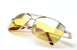 Glasses With Colored Glass Royalty Free Stock Images