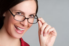 Glasses Woman Royalty Free Stock Image