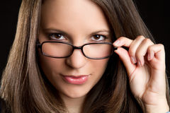 Glasses Woman Royalty Free Stock Photography