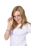 Glasses woman Stock Photos