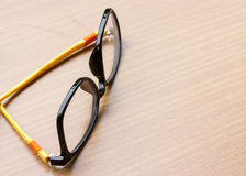 Glasses on the wooden Royalty Free Stock Images