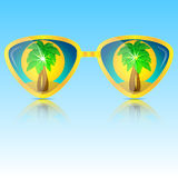 Glasses of yellow Royalty Free Stock Photography