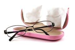 glassesetui γυαλιών στοκ φωτογραφίες με δικαίωμα ελεύθερης χρήσης