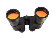 Glassess binoculari per la ricerca isolata Fotografie Stock