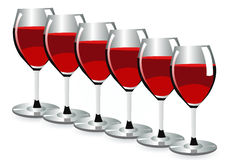Glassess del vino Imagenes de archivo
