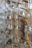 Glassess en estante Fotos de archivo