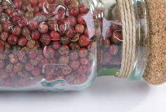 Glassful of red peppercorns Royalty Free Stock Photography