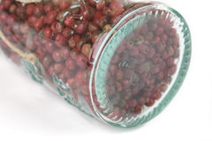 Glassful of red peppercorns Royalty Free Stock Photos