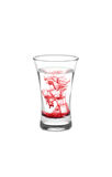 Glassfull of water with red stains stock photography