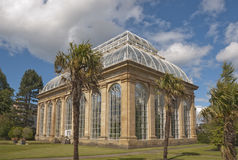 Glasshouse. The Palm house, Royal Botanic Garden, Edinburgh. Designed by Scottish architect, Robert Matheson in 1858, this is the tallest glass house in Britain Stock Images