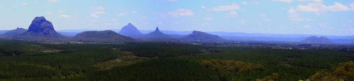 Glasshouse gór panorama Queensland Obrazy Royalty Free
