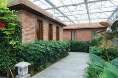 Glasshouse garden Stock Image