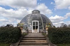 Glasshouse in Kew gardens in London Royalty Free Stock Photo