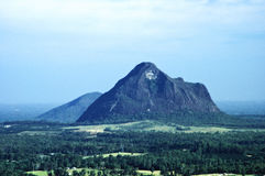 The Glasshouse Mountains. Looking at the Glasshouse mountains toward the coast. Sunshine coast, Queensland, Australia Royalty Free Stock Photos