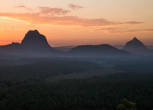 The Glasshouse Mountains Stock Image