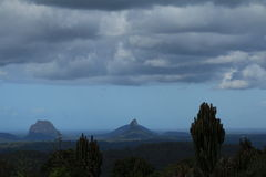 Glasshouse Mountains Storm Royalty Free Stock Image