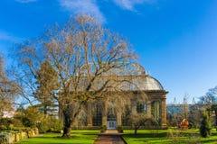 Glasshouse at the Royal Botanical Gardens in public park  Edinbu Stock Photos