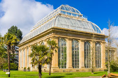 Glasshouse at the Royal Botanical Gardens in public park Edinbu. Rgh, Scotland, UK royalty free stock photo