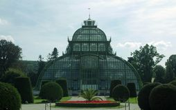 Glasshouse in Schonbrun. Royalty Free Stock Images