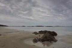 Glassilaun海滩Connemara 库存照片