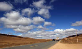 Glassland in autumn in Inner Mongolia Royalty Free Stock Images
