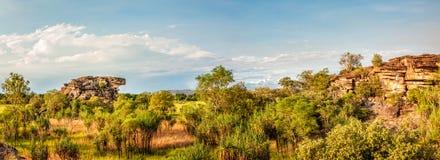 Glasslands at Ubirr Rock Panorama -Northern Territory, Australia stock images
