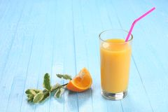 Glassof orange juice Stock Photos
