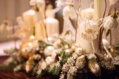 Glasspielzeugballerina als Weihnachtsdekoration Lizenzfreie Stockfotografie