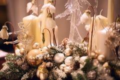 Glasspielzeugballerina als Weihnachtsdekoration Stockfotografie