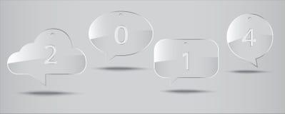 Glasspracheikone 2014 Lizenzfreies Stockfoto