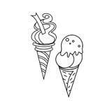 Glasssymbolstecken 03 stock illustrationer