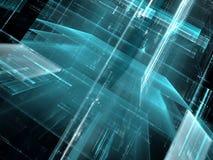 Glasstad - abstract digitaal geproduceerd beeld Stock Afbeelding