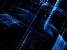 Glasstad - abstract digitaal geproduceerd beeld Royalty-vrije Stock Afbeeldingen