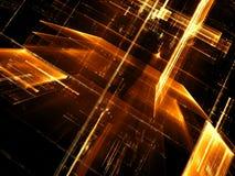 Glasstad - abstract digitaal geproduceerd beeld Royalty-vrije Stock Afbeelding