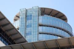 Glasstower Glasturm/, Handel Centrum Dresden Zdjęcia Royalty Free
