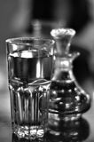 Glassware. Drinking glasses and bottle glassware Stock Photo
