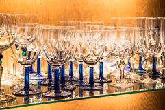 Glassware in a Bar Royalty Free Stock Image