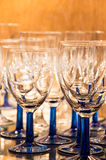 Glassware in a Bar Stock Image
