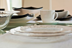 Glassware and ceramic. Adorable ceramic and glassware dishes Royalty Free Stock Photos