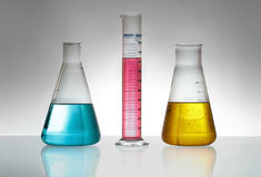 Glassware chemical laboratory Royalty Free Stock Image