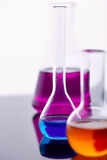 Glassware with chemical substance Stock Photo