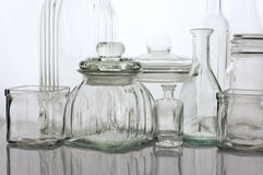 Glassware collection Royalty Free Stock Image